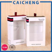 Boîte d'emballage de vêtements de luxe avec ruban de soie