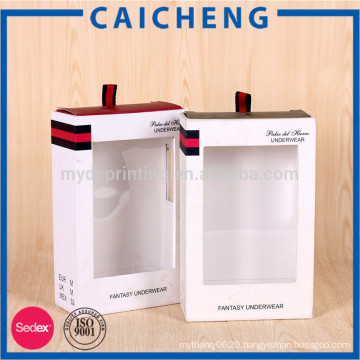 Luxury clothes garment packaging box with silk ribbon