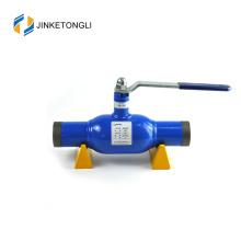 Fluide à eau et robinet à tournant sphérique entièrement soudé de haute qualité standard pour l'industrie