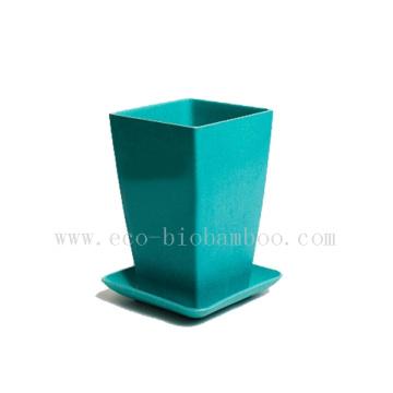 Biodegradable Bamboo Fiber Flower Pot (BC-F1004)