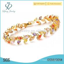 Bracelet en manchette en argent platine pour femme, motifs en diamant pour femmes