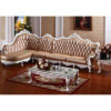 Деревянные кожаный диван от фабрики китайской мебели (ЖЛ-D806)