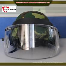 XX ISO 9001 PE fibre Olive Green casque balistique avec masque