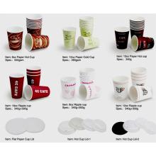 Tasses en papier / Tasse froide / Coupe chaude / Tasse ondée