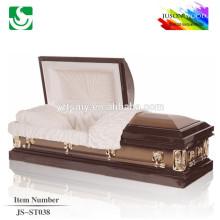 velvet lining 18 ga metal casket