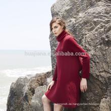 2017 design frau 100% kaschmir pullover kleid