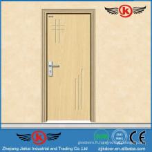 JK-P9008 JieKai pvc moderne porte en bois / pvc salle de bain porte en plastique / PVC Profilé pour Windows et Portes