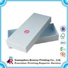 Venta al por mayor colorida modificada para requisitos particulares de la caja de cartón azul marino de la tapa