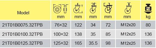 Parameters Of 21T01B0100.32TPB