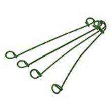 Attaches de fil à double boucle de 12 po / attaches en PVC
