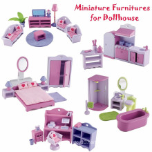 Wooden Doll House Miniatures Furniture