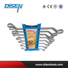 8PCS Blue Plastic Clip Double Offset Ring Wrench Set