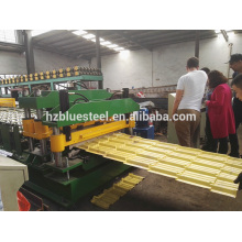 Más Popular Hidráulica Automática Esmaltada Techo De Azulejos Roll Formando La Máquina Para Asia