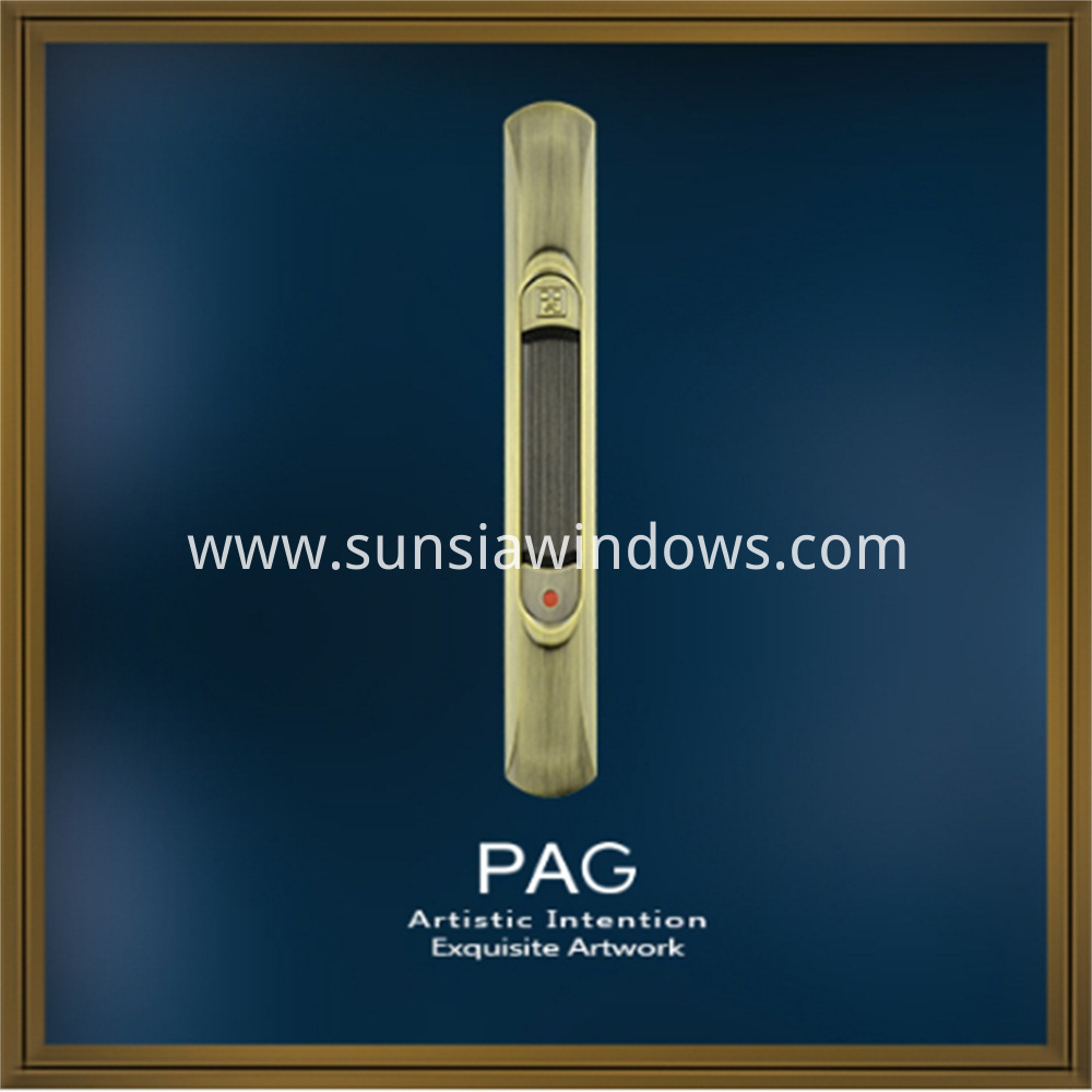 Sliding System Zinc Alloy Touch Lock