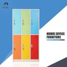 Color steel furniture 6 door metal locker
