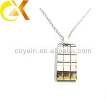 Jóias de prata pingente de jóias de aço inoxidável