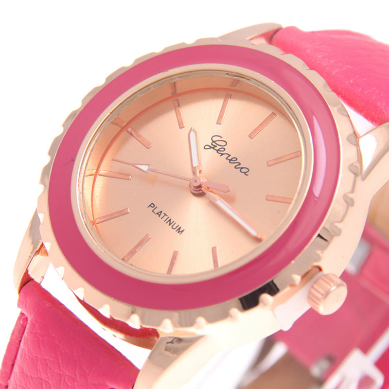 red women quartz watch