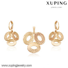 64040-Xuping Gold Jewelry Sets ,Fashion Brass Jewelry Set with 18K Gold Plated