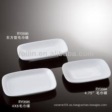 Sanos duraderos de porcelana blanca horno seguro toalla platos