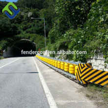 Yellow color Highway guardrail roller barrier