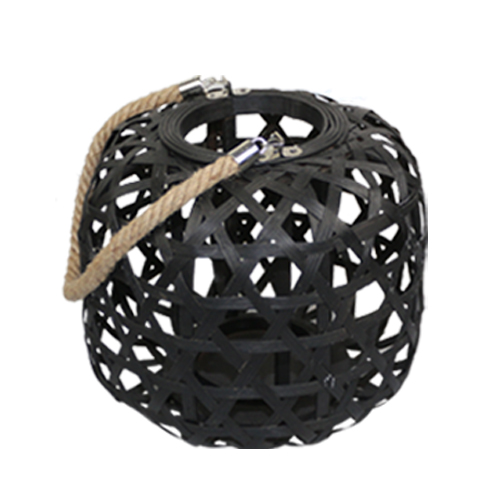 Black bird cage shape storm lantern