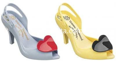 ladies high plastic shoes 2