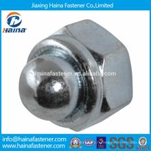 En stock Fournisseur chinois Acier inoxydable DIN986 Écrou en caoutchouc hexagonal de type à couple avec embout non métallique