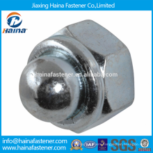 In Stock Chinese Supplier Stainless Steel DIN986 Prevailing torque type hexagon domed cap nuts with non-metallic insert