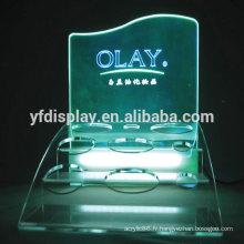 Présentoir acrylique pour produits cosmétiques