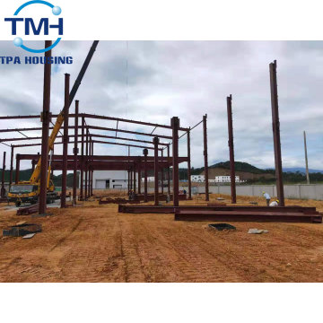 steel structure metal warehouse with paint