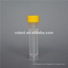 Laborverbrauchsmaterial 1,5-ml-Kryo-Röhrchen mit flachem Boden
