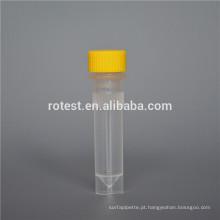 consumíveis de laboratório Tubos criogênicos de fundo plano de 1,5 ml