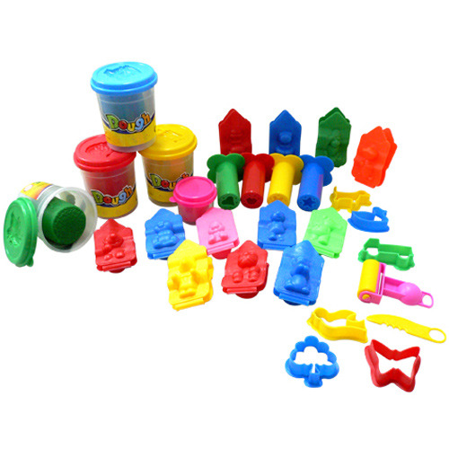 Automatic non-dry play dough play dough cutters plasticine packing machine