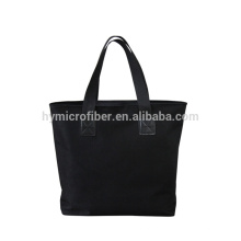 Waterproof 100% polyester black shopping bag with own logo