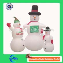Manteau de neige abominable gonflable décoration de Noël gonflable abominable décoration de noel de neige à vendre