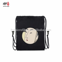 Black new design canvas backpack bag