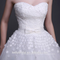 3D Flowers with Pearls Wedding Dress Sweetheart Neckline Bridal Gown Puffy Skirt Wedding Dress 2017