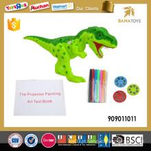 Projetor do brinquedo do dinossauro do jogo da criança inteligente 2in1