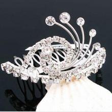 Rhinestones cabelo jóias fantasia tiara cabelo barrette