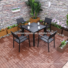 new 5pcs patio aluminium polywood furniture