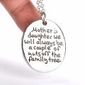 Wholesale mother's day silver plated ladies fashion jewelry necklace
