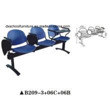 Trainingsstuhl Plastikstuhl mit Schreibbörse für Büro