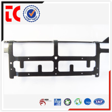 Aluminum precision casting OEM in China Black e-coating communicate supoort frame for telecommunication part