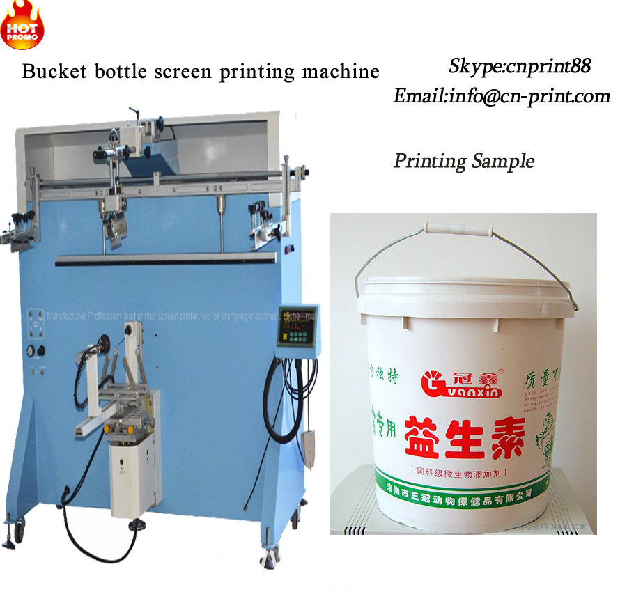 Large Container Screen Printing Machine For Bottles