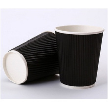 Promotional Double Wall Hot Coffee Cup, Corrugated Cup Custom Wholesale Tea Cup