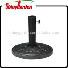sombrilla para jardín, base de hormigón