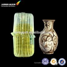 Embalaje hinchable fill aire aire columna bolsa para botella de vidrio de alimentos