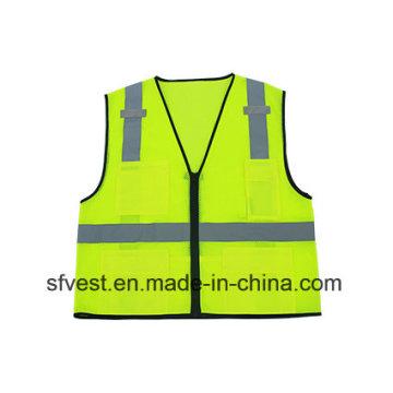 100% Polyester Mesh Flourescent Reflective Safety Vest