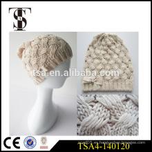 La aduana acepta el sombrero del invierno del knit del ganchillo sombreros del invierno de las señoras de la alta calidad