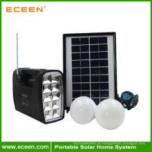 Indoor / Outdoor baixo preço China gerador de economia de energia solar potável com pequeno painel solar e lâmpada